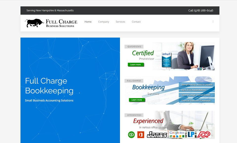 Bookkeeping website